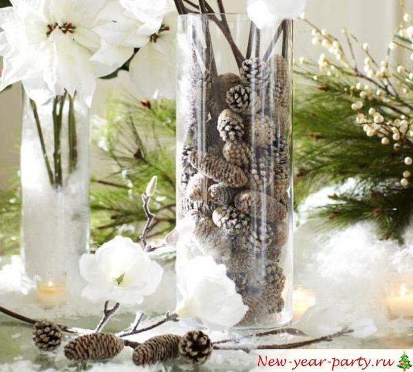 Новогодняя композиция для стола своими руками