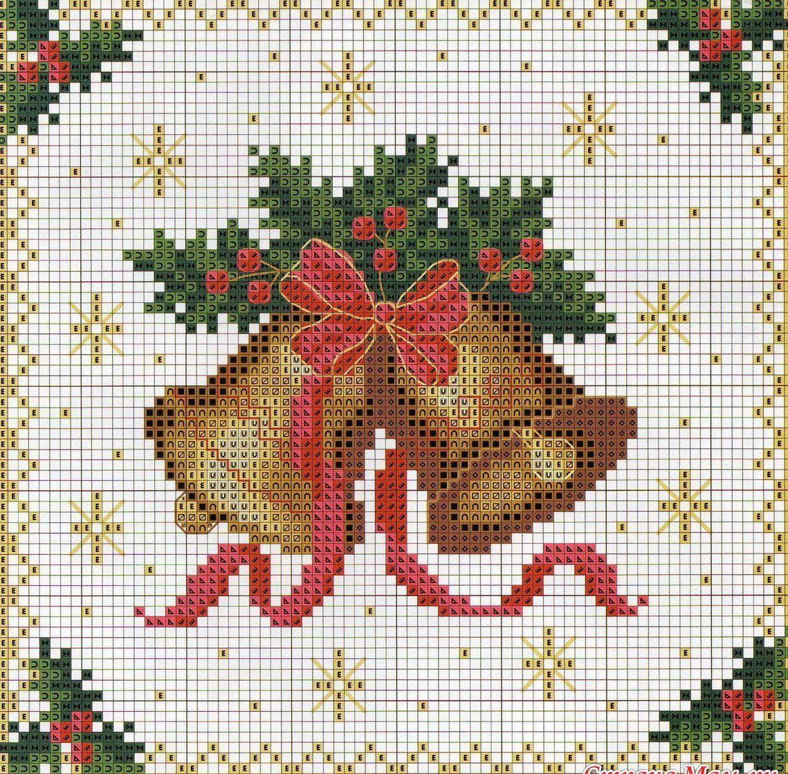 Схемы вышивок крестиком новогодние картинки