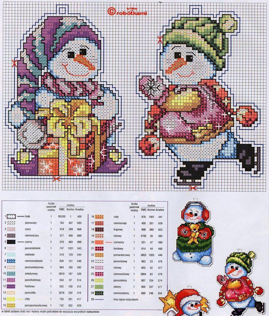Новогодние схемы вышивок крестом для новогодних игрушек