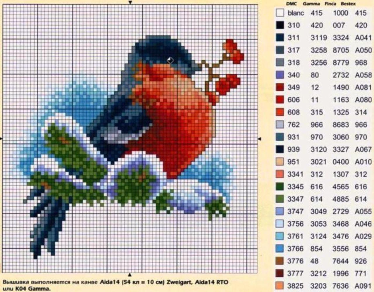 Птичка моя (филейное вязание продолжение) 27