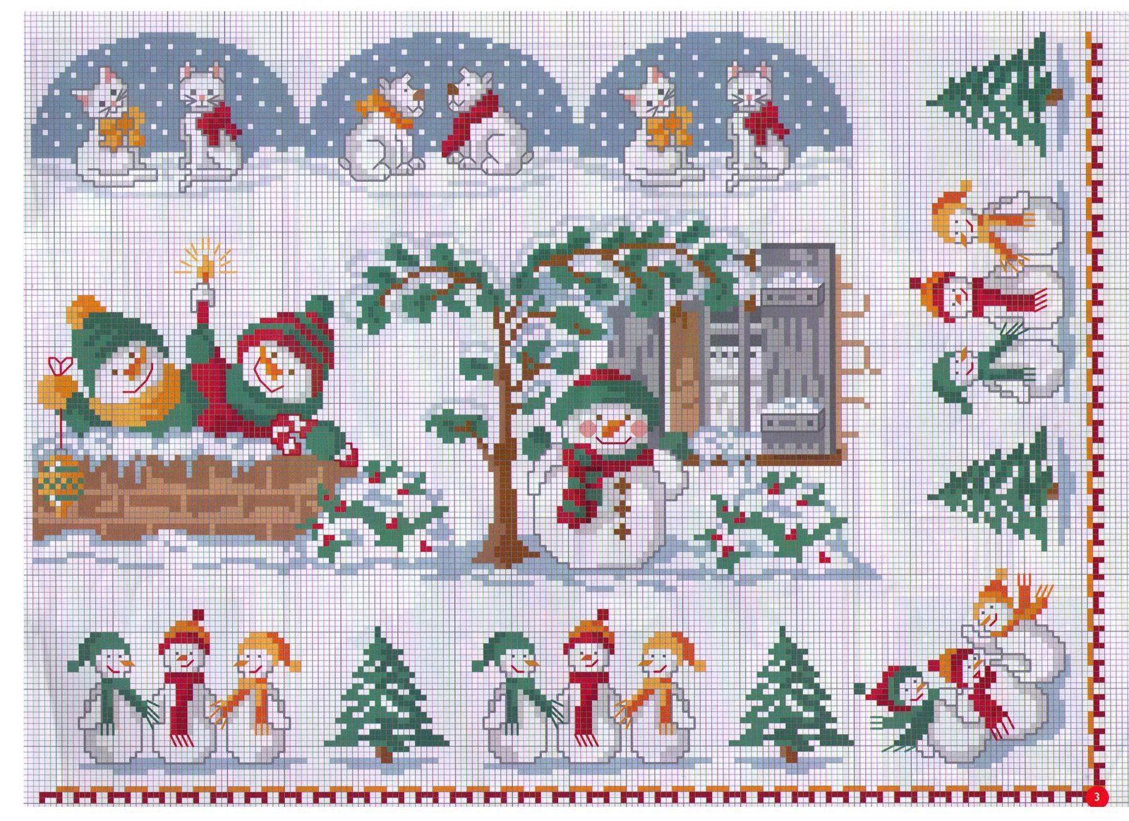 Вышивка крестом рождество 46