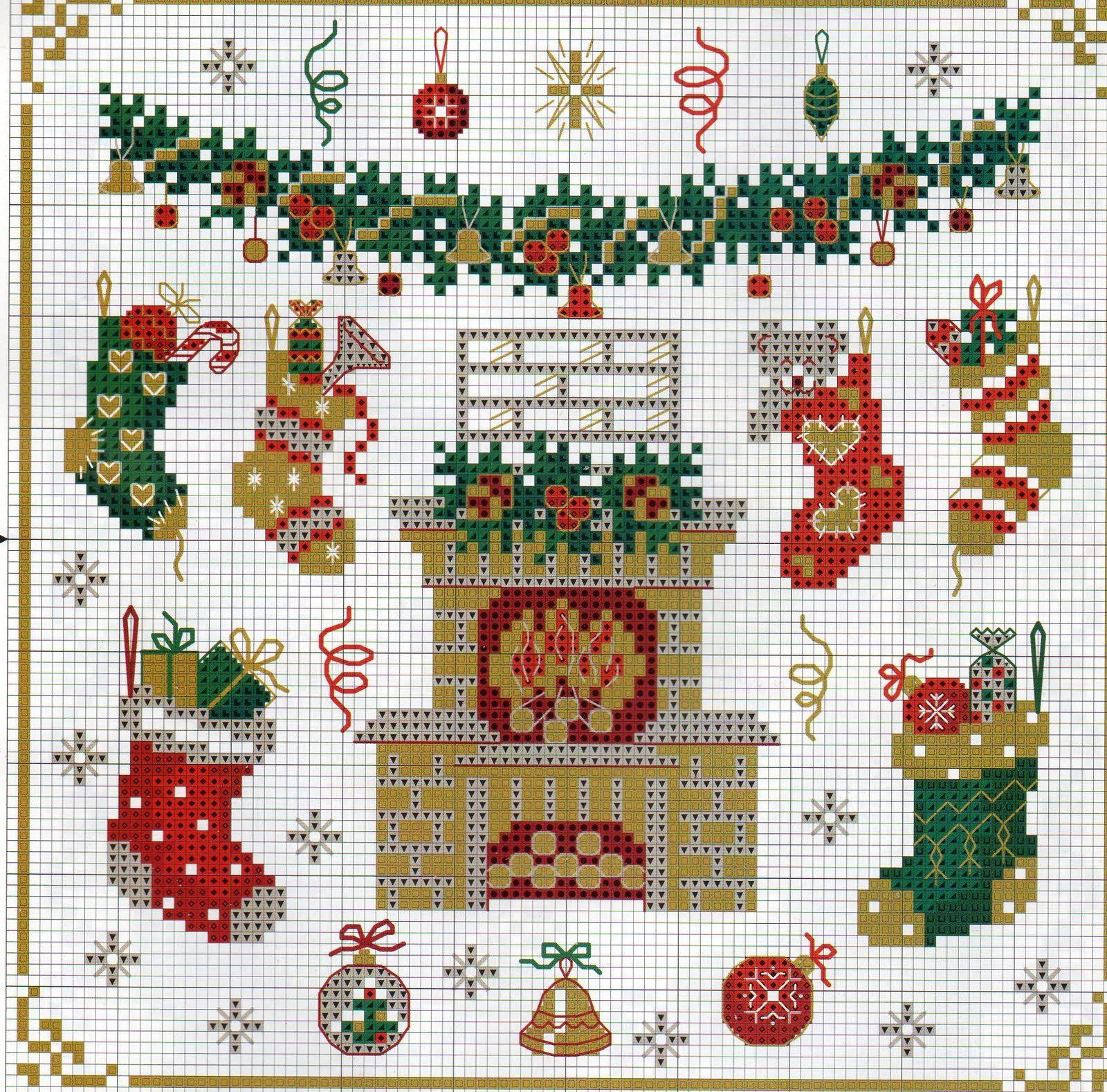Вышивка крестом новогодние рождественские