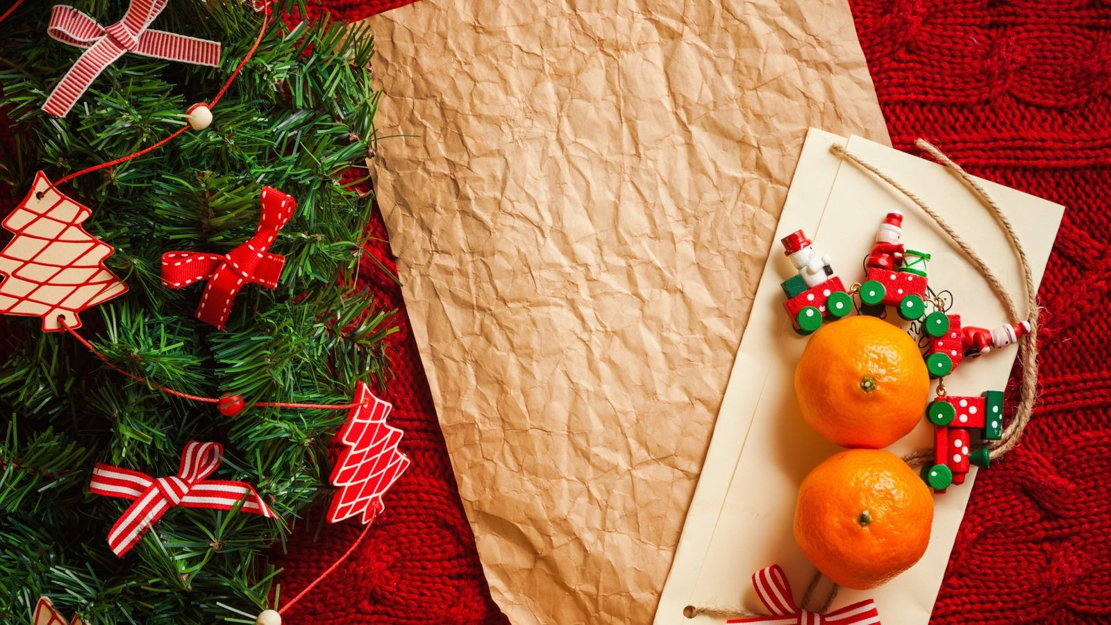 Новогодние картинки Ёлка и мандарины на рабочий стол 2018 - photo#41