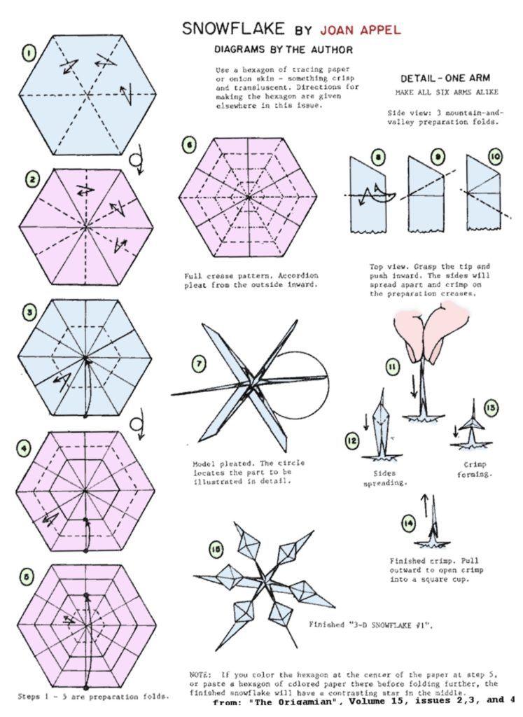 Схема снежинки-оригами