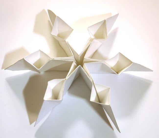 Схема бумажной снежинки