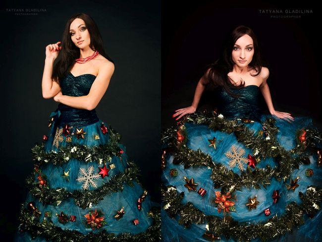 Из чего сделать платье на новый год