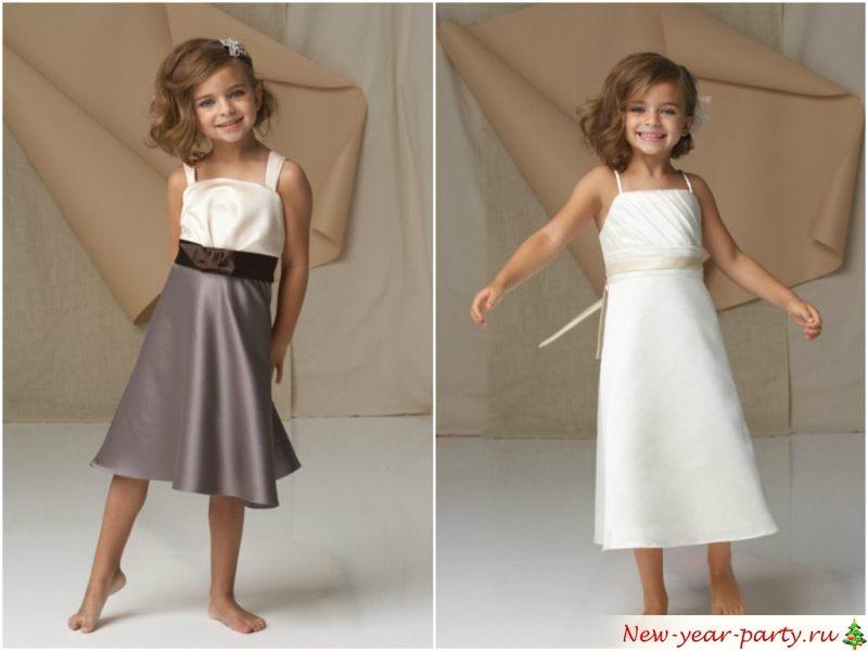 Простые прямые платья
