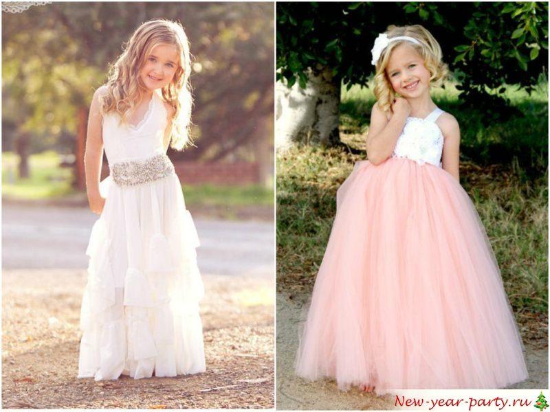 Белые и нежно розовые цвета