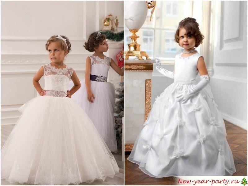 Белоснежные платья для девочек