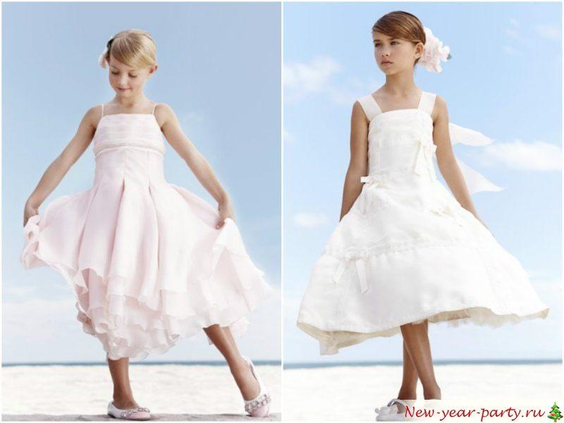 Простые белые, воздушные платья