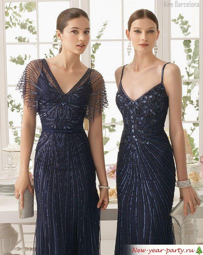 черные новогодние платья