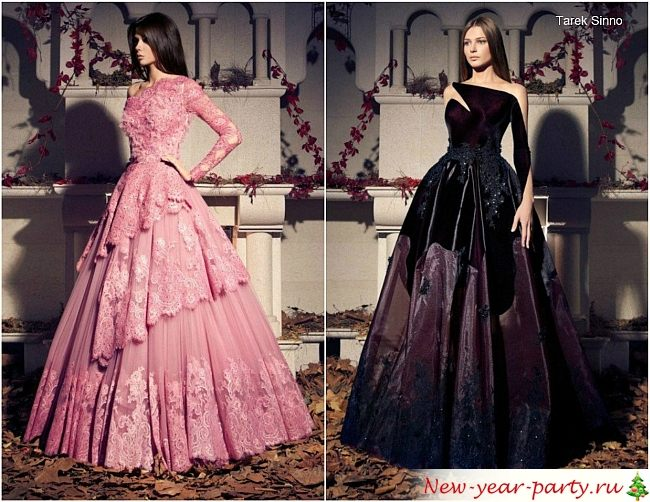 розовое и бордовое платья с пышной юбкой