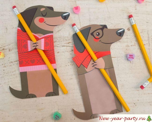 Поделка для детей на новый год собака