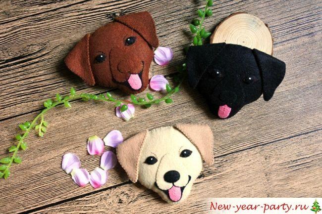 Новогодние поделки на год Собаки 2018