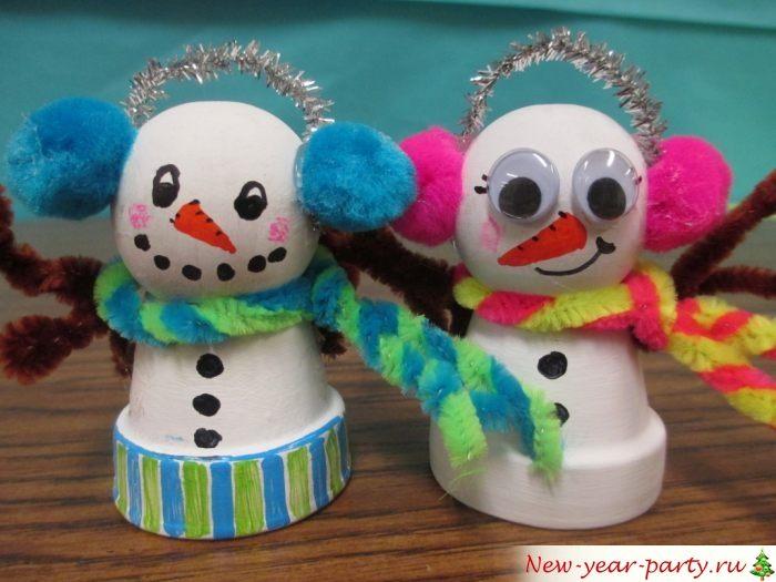 Потешные снеговички