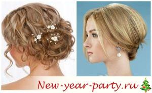 Прически на новый год на средний волос с челкой