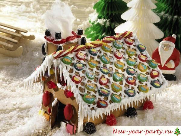 Пряничный домик, рецепт для Нового года