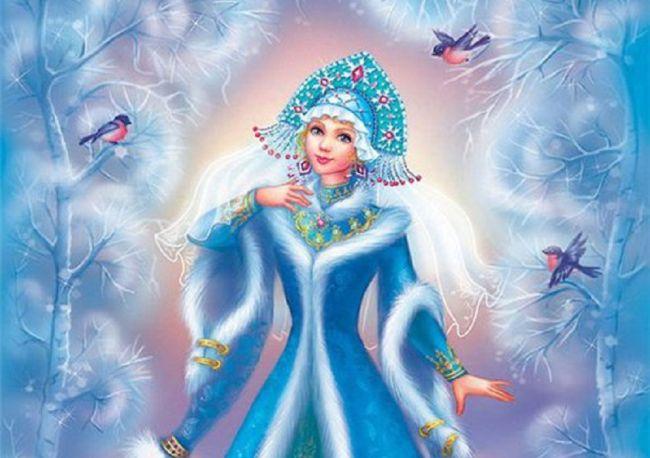 Раскраска Снегурочка для детей