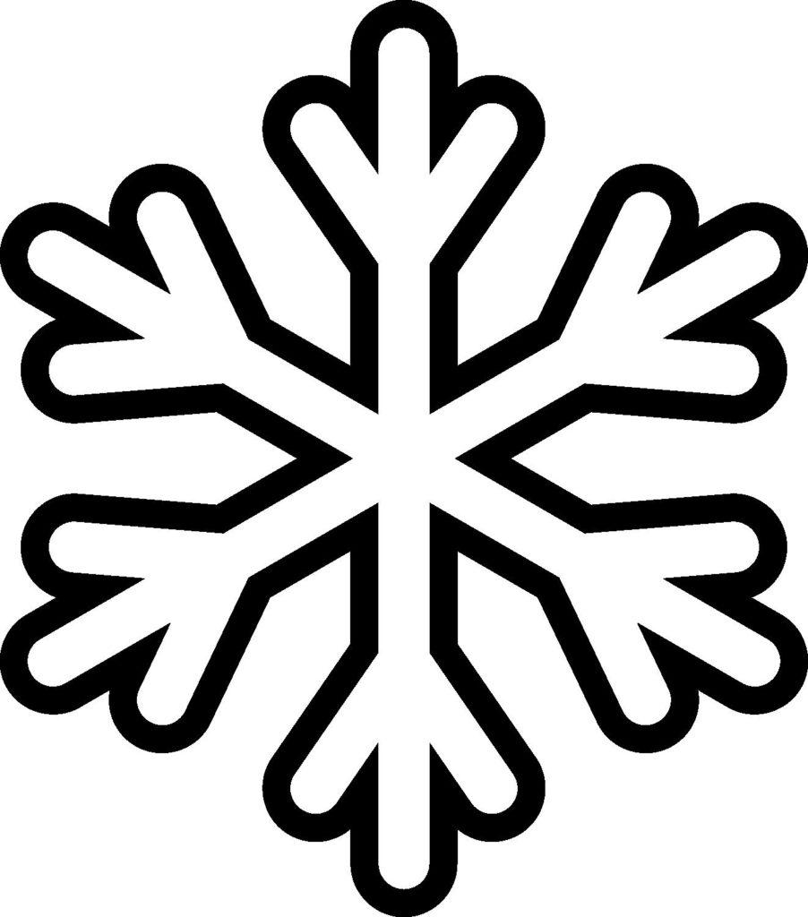 Большой шаблон Снежинки