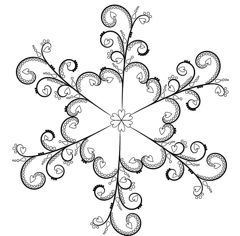 Снежинка-мандала