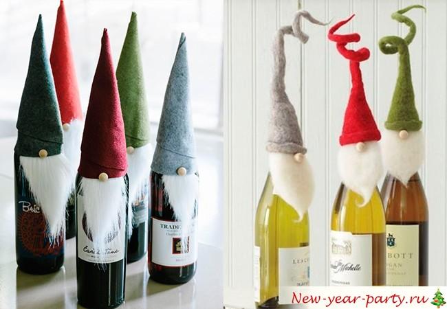 Украсить шампанское на новый год своими руками