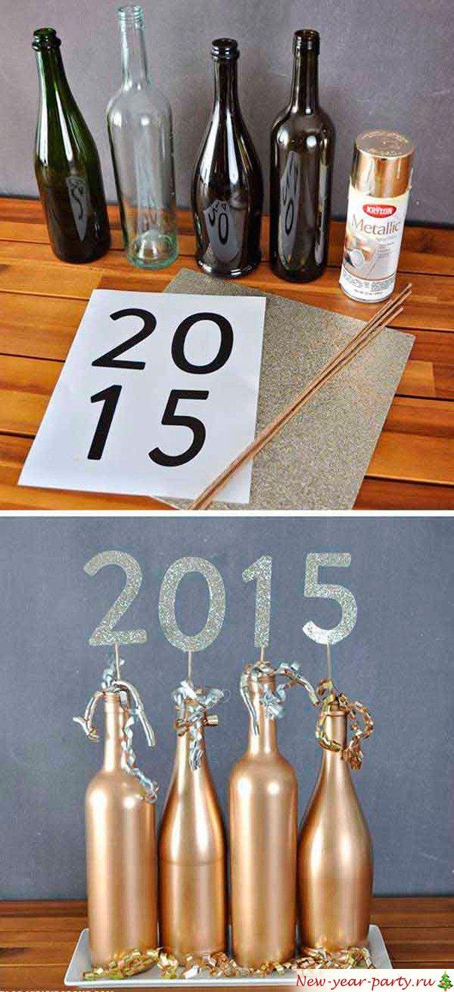 Как по-новогоднему украсить шампанское