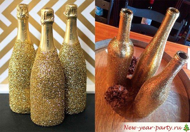 декор бутылок 2018