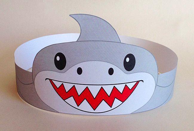 Маска Акулы и рыбы для новогоднего утренника