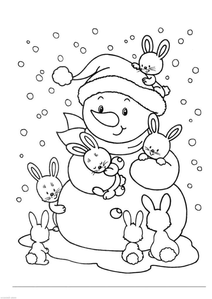 Раскраска Снеговик для детей, распечатать 40 красивых шаблонов рекомендации
