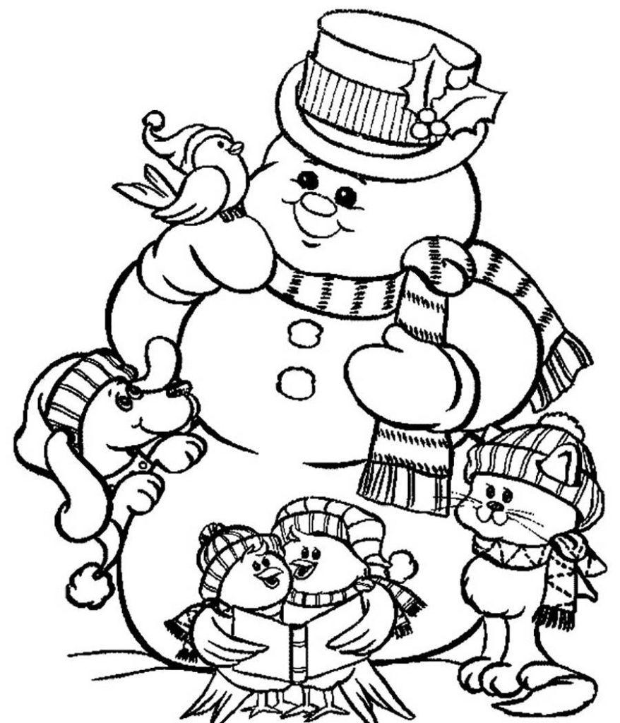 Снеговик и зверята