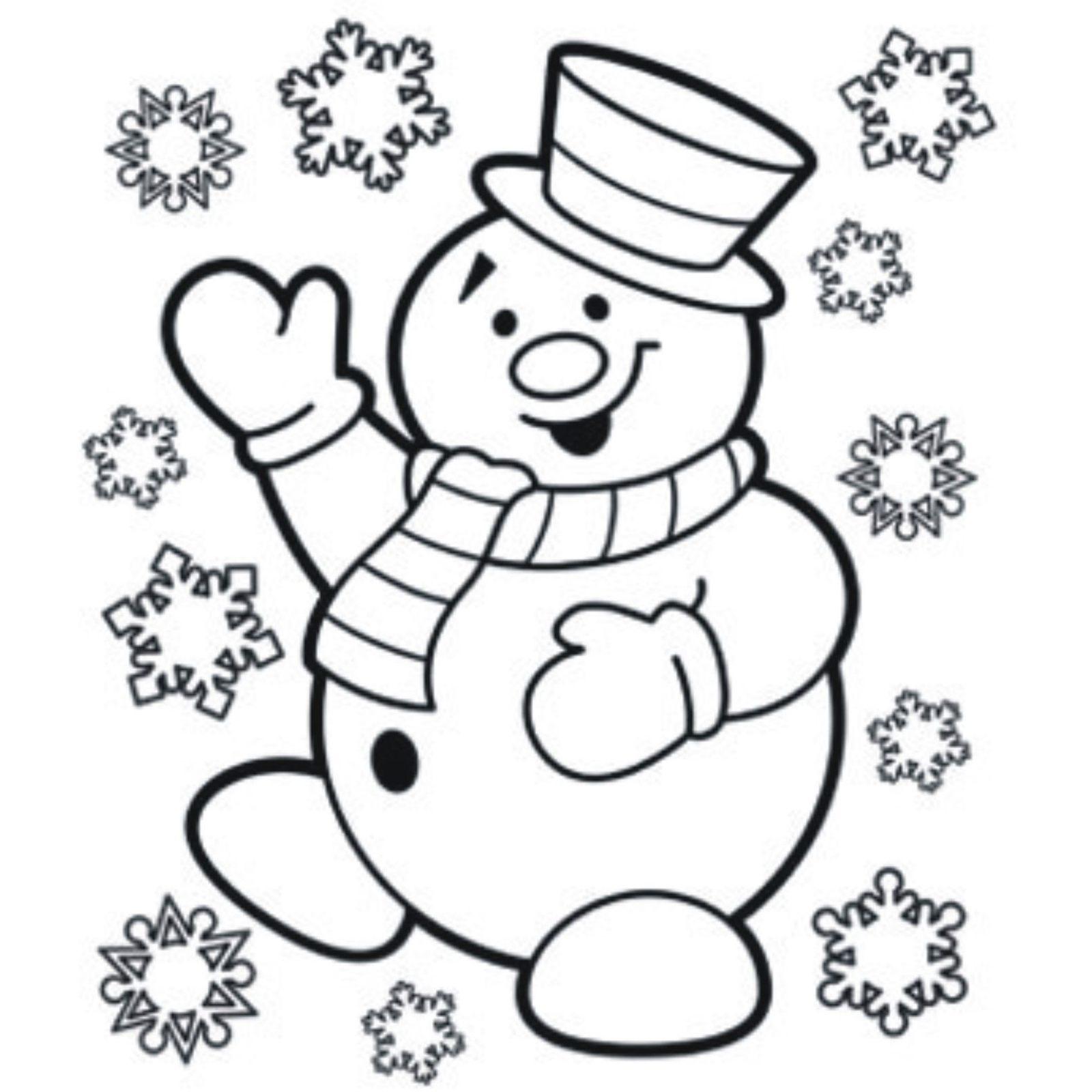 childrens coloring pages snowman shape - photo#19
