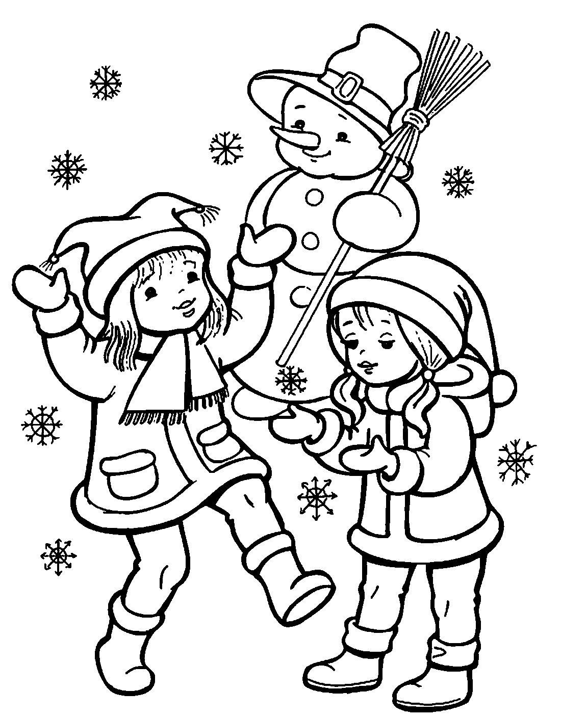 Раскраска Снеговик для детей, распечатать 40 красивых шаблонов новые фото