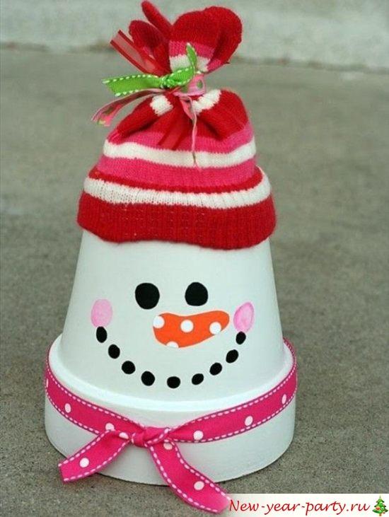 Как сделать снеговика, фото мастер-класс