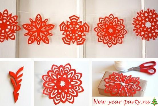 Паперові сніжинки - 50 шаблонів для вирізання