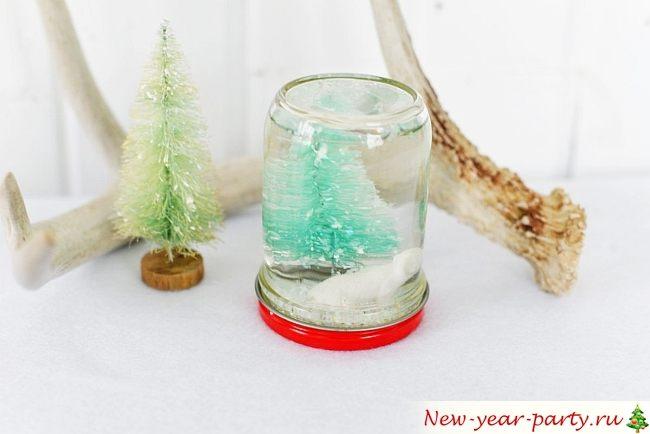 новогодняя поделка с глицерином