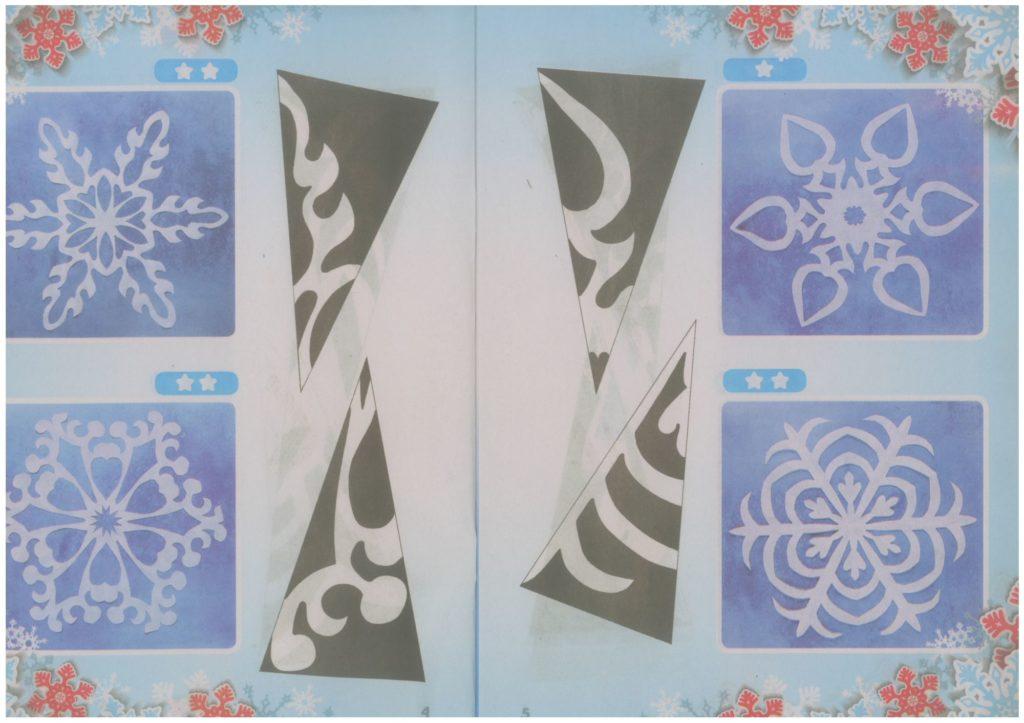 простые и легкие схемы снежинок из бумаги