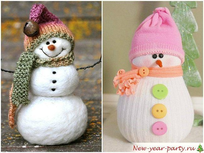 Поделки снеговика своими руками видео фото 168
