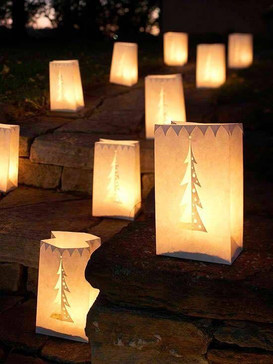 уличные новогодние фонарики