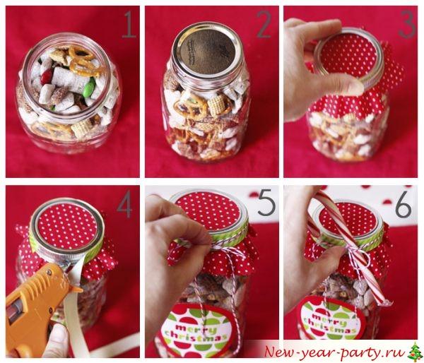 Как оформить подарок с конфетами в коробке 937