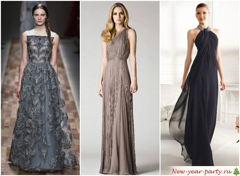 Новогодние платья в темных цветах