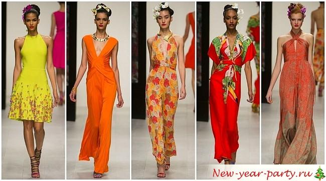 цветные платья на Новый год