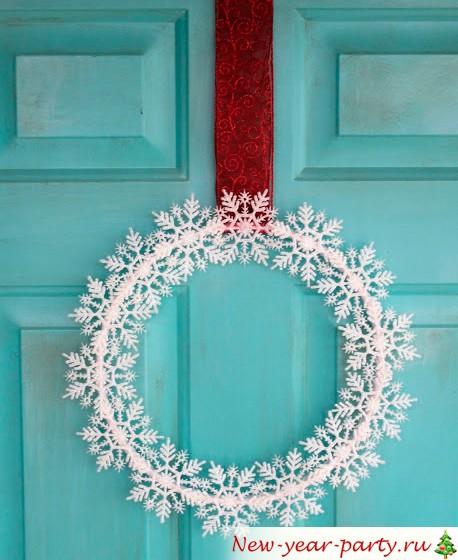 Новогодняя поделка на дверь
