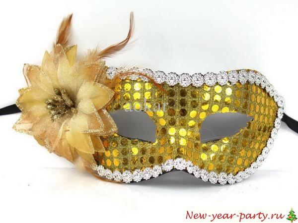 Новогодние маски своими руками из фетра