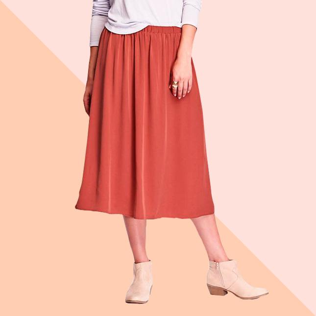 Легкая яркая юбка